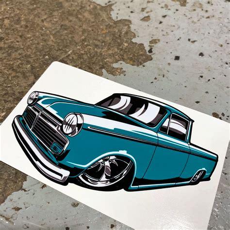 Bagged Datsun by Low Label Teal Bagged Datsun Minitruck Stickers Low Label