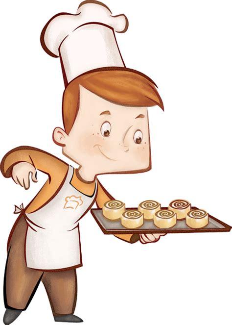 chef de cuisine patisserie dessin couleur