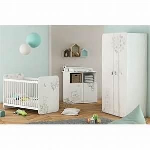 bear chambre bebe complete 3 pieces lit bebe 60x120 cm With chambre bébé design avec chambre de culture complete