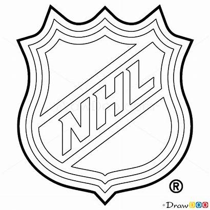 Nhl Draw Hockey Logos Drawing Step Drawdoo