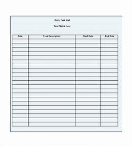task list template 10 free word excel pdf format With template for daily tasks