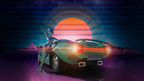 racing games retro synthwave