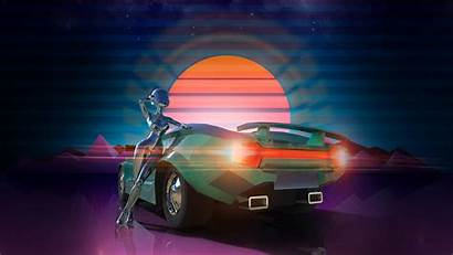 Retro Synthwave Neon 80s Drive Wallpapers Background