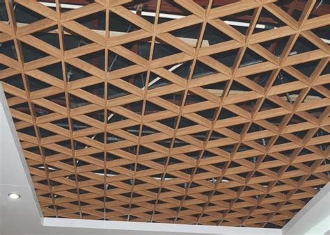 Indoor Triangle Suspended Metal Aluminum Ceiling Grid