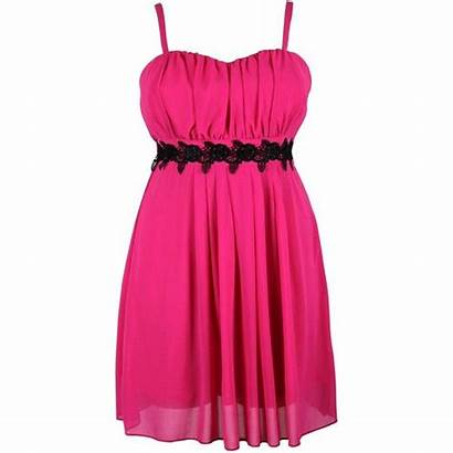 Polyvore Pink Lace Dresses Contrast Clothes Clothing