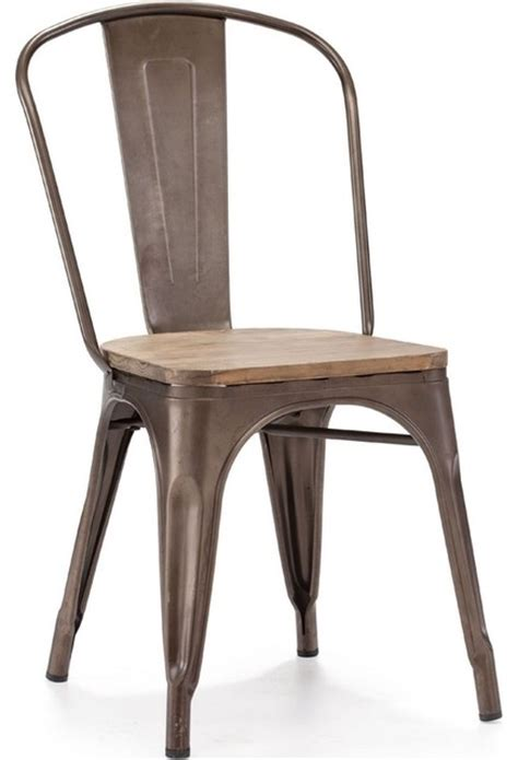 elio rustic wood chair contemporary dining chairs