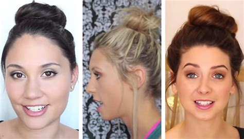 how to style your hair up the bun for medium and hair 1549