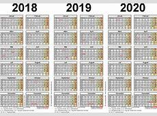 Wochenkalender 2018 Als Excel Vorlagen Zum Ausdrucken