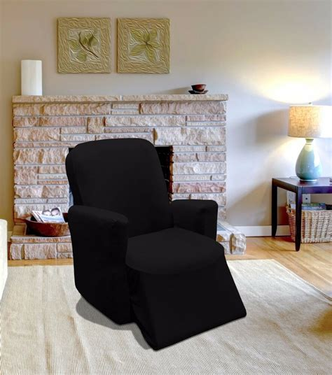 Sofa Recliner Covers by Black Jersey Recliner Stretch Slipcover Cover