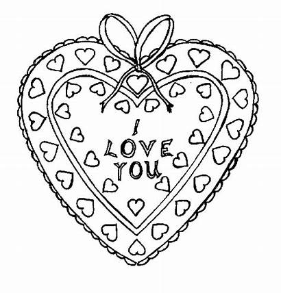 Hearts Coloring Pages Valentine Heart Printables Printable