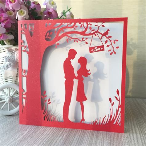 pcs pearlized glossy paper red color vintage romantic
