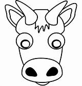 Template Mask Buffalo Animal Face Templates Printable Cow Coloring Sketch Masks Pages Clipart Premium Credit Larger Paintingvalley sketch template