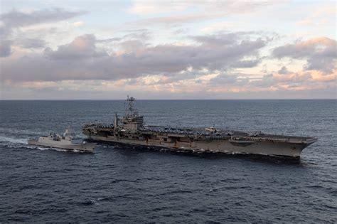 Norsk fregatt skal inngå i amerikanskledet hangarskipsstyrke - Forsvaret
