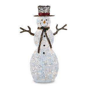 trimming traditions 260 121150150 2 50 quot 150 clear light icy snowman christmas decoration