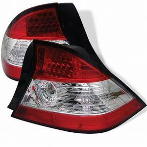 Honda Civic Coupe 2004 2005 Red And Clear LED Tail Lights