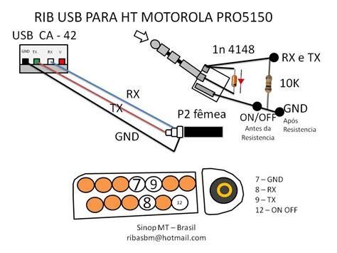 como fabrico el cable para programar radio pro 5150 yoreparo
