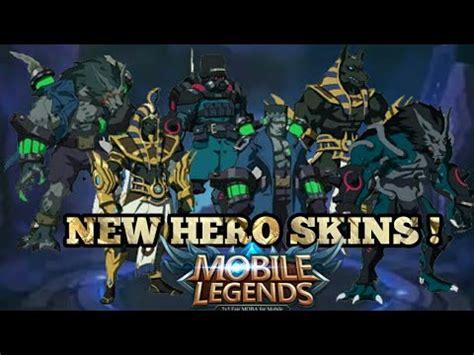 Mobile Legends New Hero Skins !  Mobile Legends Legendary