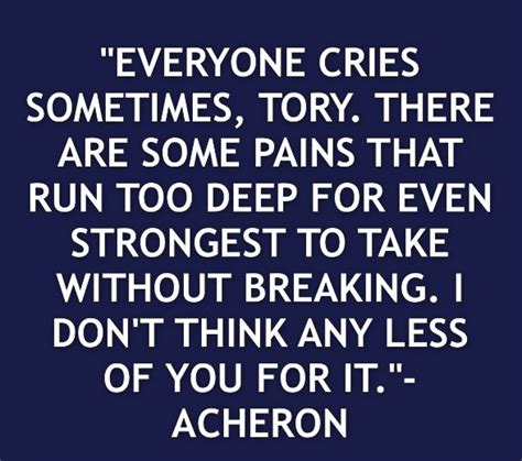 Acheron And Tory Quotes
