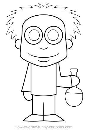 scientist drawing sketching vector