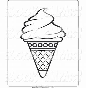 Ice Cream Outline Clip Art (46+)