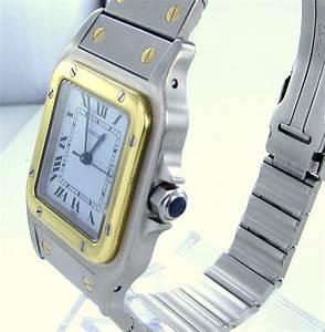 Cartier Santos Herren Uhr StahlGold Datum EBay