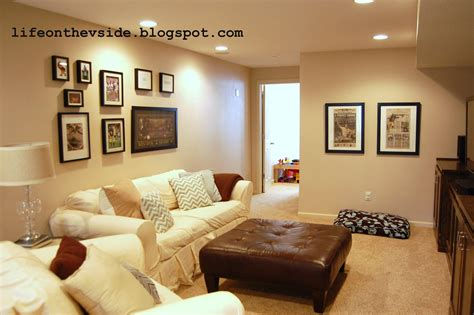 basement decorating ideas on the v side basement decor updates finally
