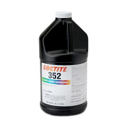 uv adhesive curing l henkel loctite 352 light cure adhesive 1 l bottle