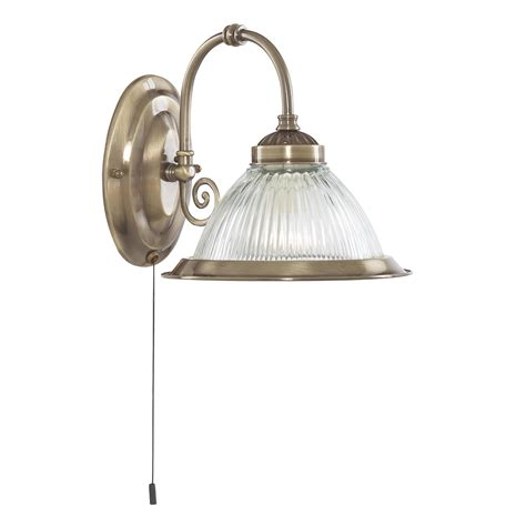 Downlights Bedroom by Searchlight 9341 1 American Diner Antique Brass Wall Light