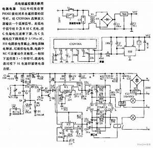 The Circuit Diagram Of Using Tv Remote Controller To Cut