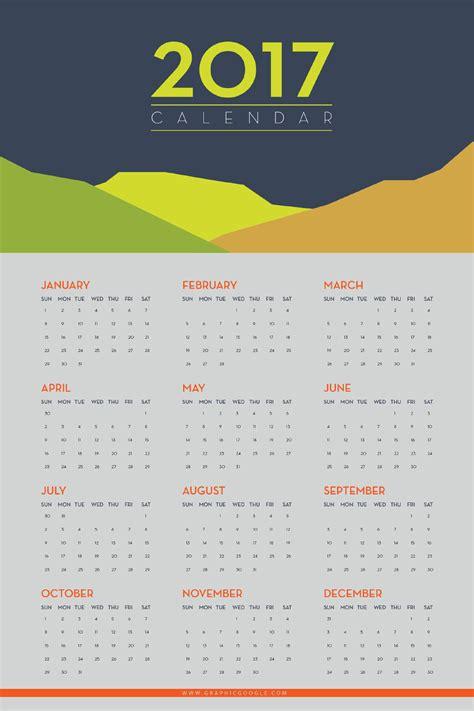 Free Calendar Template 2017 Free Flat 2017 Calendar Template Free Design Resources