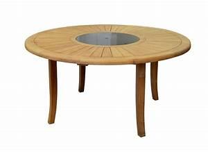 Table Ronde En Teck : table de jardin brehat 155 cm mobilier de jardin ~ Teatrodelosmanantiales.com Idées de Décoration