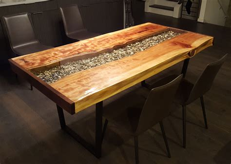 hand crafted  edge redwood river table  imperial