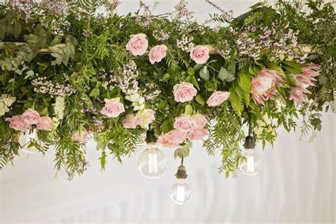wedding trend suspended  hanging flowers