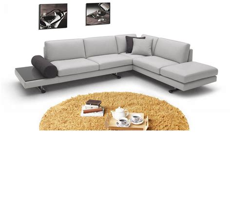 Contemporary Leather Sectional Sofas by Dreamfurniture 946 Contemporary Italian Leather