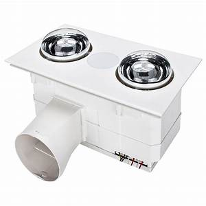 Forme2 3 In 1 Bathroom Heater  U0026 Exhaust Fan With Tricolour