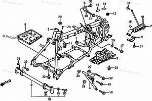 Honda Atv 1985 Oem Parts Diagram For Frame