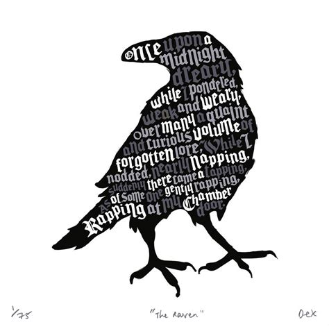 'the Raven' Art Print By Run For The Hills Notonthehighstreetcom