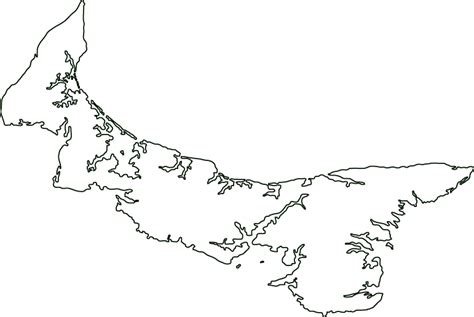 prince edward island canada outline map