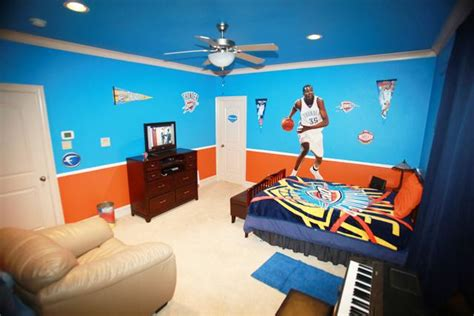Oklahoma City Thunder Décor Bedroom Idea