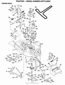 Ayp  Electrolux Ayp7124b59  1995  Parts Diagram For Mower Deck