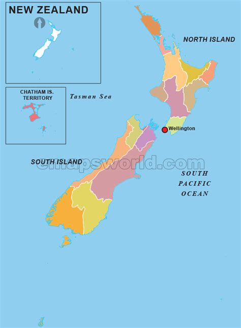zealand regions outline map regions outline map