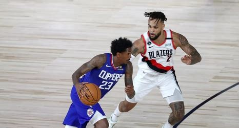 blazers lose  clippers bench squad