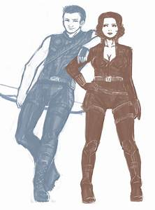 Hawkeye and Black Widow by Promemoria on DeviantArt