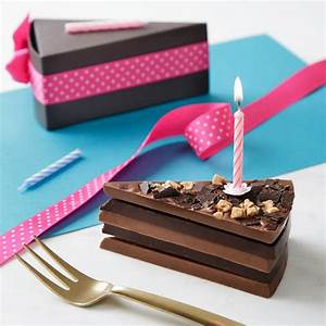 birthday chocolate cake slice complete with candle by ...