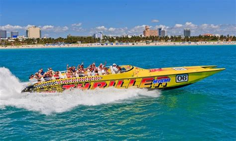 Navy Pier Boat Rides Coupons by Thriller Miami Speedboat Adve Thriller Miami