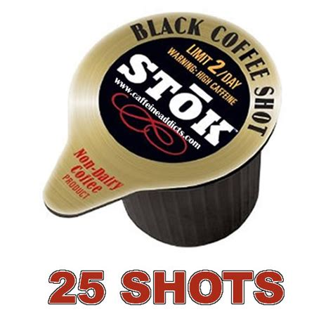 Limit to 2 servings per day. Stok Caffeinated Cold Brew Coffee Shot - 25 Caffeine Shots