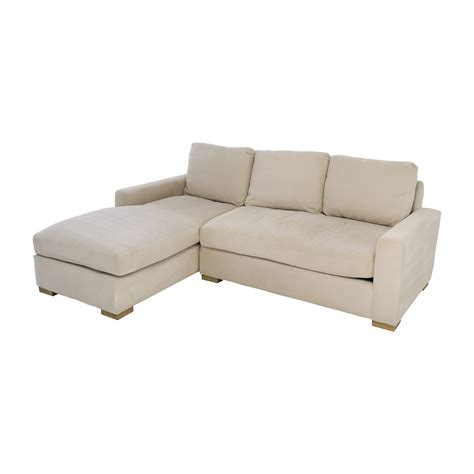 buying used couches 81 off restoration hardware restoration hardware petite maxwell beige chaise sectional sofas
