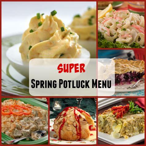 super spring potluck menu mrfoodcom