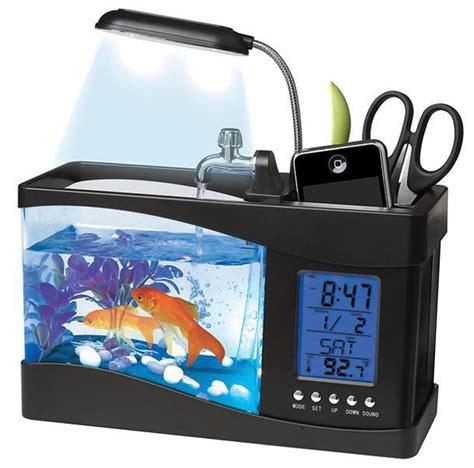 gadget bureau meteo aquarium de bureau usb avec station météo commentseruiner