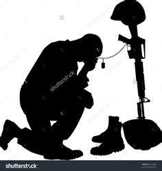 praying soldier hat   mailbox topper metal art
